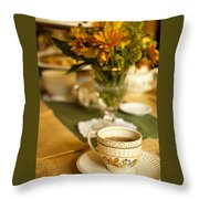 Afternoon Tea Time Throw Pillow by Andrew Soundarajan