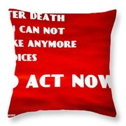 Against Suicide Throw Pillow by Sir Josef - Social Critic - ART