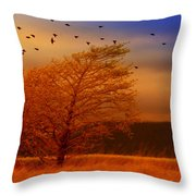Against The Wind Throw Pillow by Holly Kempe