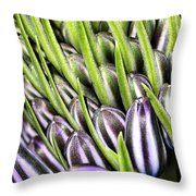 Agapanthus Buds Throw Pillow by Joy Watson