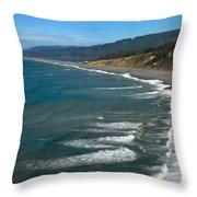 Agate Beach Throw Pillow by Adam Jewell