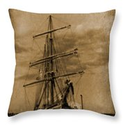 Age Of Sail Poster Throw Pillow by John Malone Halifax photographer