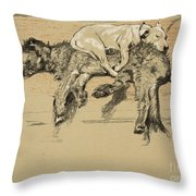 Agglomeration Throw Pillow by Cecil Charles Windsor Aldin