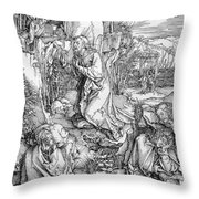 Agony In The Garden From The 'great Passion' Series Throw Pillow by Albrecht Duerer
