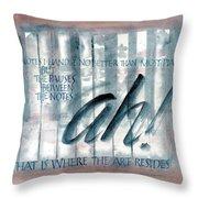 ah Music Throw Pillow by Judy Dodds