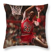 Air Jordan Throw Pillow by Mark Spears
