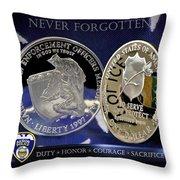 Akron Police Memorial Throw Pillow by Gary Yost