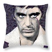 Al Pacino Again Throw Pillow by Tony Rubino