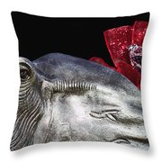 Alabama Football Mascot Throw Pillow by Kathy Clark