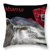 Alabama Throw Pillow by Kathy Clark