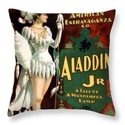 Aladdin Jr Amazon Throw Pillow by Terry Reynoldson
