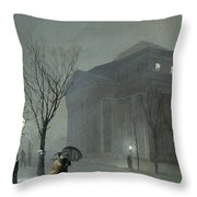 Albany In The Snow Throw Pillow by Walter Launt Palmer
