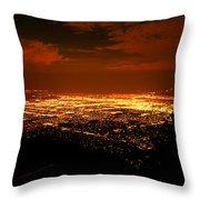 Albuquerque New Mexico  Throw Pillow by Jeff  Swan