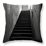 Alcatraz Hospital Stairs Throw Pillow by RicardMN Photography