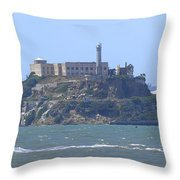 Alcatraz Island Throw Pillow by Mike McGlothlen