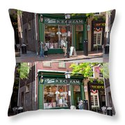 Alexandria Ice Cream Throw Pillow by Mike Savad