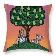 Alicia Time For Love Throw Pillow by Victoria De Almeida
