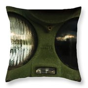 Alien Eyes Throw Pillow by Christi Kraft