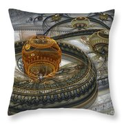 Alien Landscape II Throw Pillow by Martin Capek