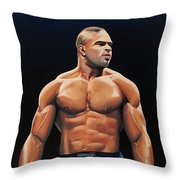 Alistair Overeem Throw Pillow by Paul Meijering