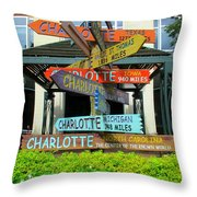 All Charlottes Throw Pillow by Randall Weidner