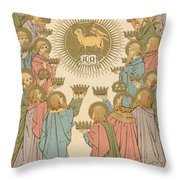 All Saints Throw Pillow by English School