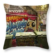 Alley Graffiti Throw Pillow by Stuart Litoff