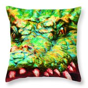 Alligator 20130702 Throw Pillow by Wingsdomain Art and Photography
