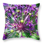 Allium Series - Close Up Throw Pillow by Moon Stumpp