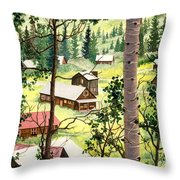 Almost Heaven Throw Pillow by Barbara Jewell