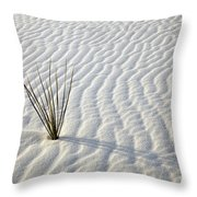 Alone In A Sea Of White Throw Pillow by Mike  Dawson