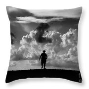 Alone Throw Pillow by Stelios Kleanthous