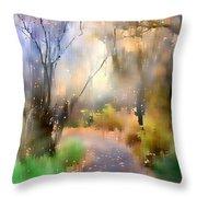Alpine Aspens 9 Throw Pillow by Barbara D Richards