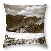 Alpine Landscape Throw Pillow by Frank Tschakert