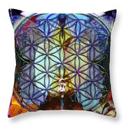Life DNA Throw Pillow by Joseph Mosley