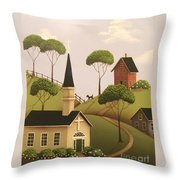 Amber Hills Throw Pillow by Catherine Holman