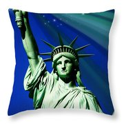 America Throw Pillow by Diana Angstadt
