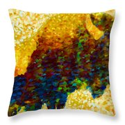 American Bison Throw Pillow by Jack Zulli