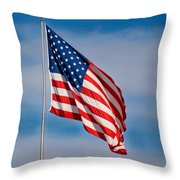 American Flag Throw Pillow by Benjamin Reed