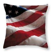 American Flag Throw Pillow by Jon Neidert