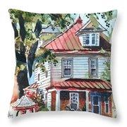 American Home with Children's Gazebo Throw Pillow by Kip DeVore