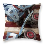 American Roller Skates Throw Pillow by Garry Gay