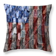 American Sacrifice Throw Pillow by DJ Florek