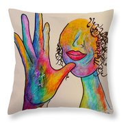 American Sign Language . . .  MOTHER Throw Pillow by Eloise Schneider
