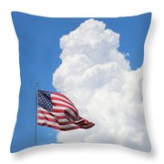 American Sky Throw Pillow by Kume Bryant