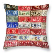 American Transportation Throw Pillow by Steven Bateson