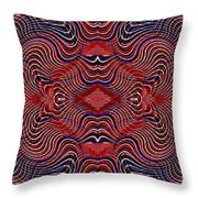 Americana Swirl Banner 2 Throw Pillow by Sarah Loft