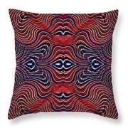 Americana Swirl Banner 4 Throw Pillow by Sarah Loft