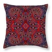 Americana Swirl Design 1 Throw Pillow by Sarah Loft