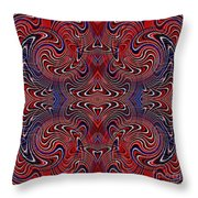 Americana Swirl Design 2 Throw Pillow by Sarah Loft